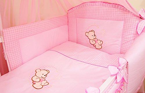 Parure de lit 3 pièces. Parure de lit tour de lit lit bébé Ourson sur la lune