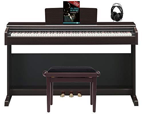 Yamaha Arius YDP-144 R E-Piano Set (elegantes Digitalpiano, 88 Tasten, GHS-Tastatur, CFX-Klangerzeugung & 2x 8W Lautsprecher inkl. Pianobank, Kopfhörer & Klavierschule mit CD & DVD) Rosenholz
