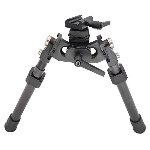 Tactical Long Range Carbon Fiber Bipod with Rotating bipod Adapter for Sling swivels