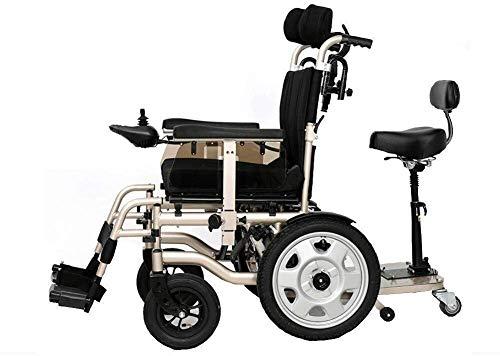 Silla de ruedas eléctrica, ligera, plegable, portátil, con pedales y asientos para independencia o cuidador silla de ruedas eléctrica (tamaño: 20 AH)