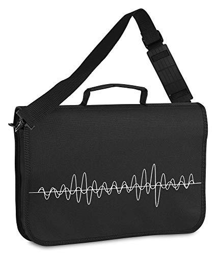 Classic Cantabile Notentasche - Tasche für Musikunterricht und Musikalische Früherziehung - Für Noten im DIN- und US-Format - Schultergurt - Innenfächer für Utensilien - Musik-Design - schwarz