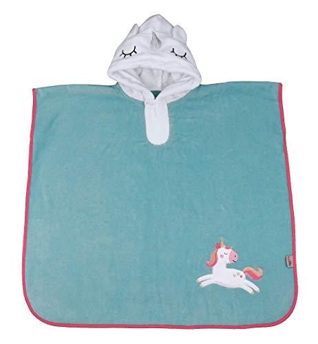 Schlummersack kuschelig weicher Badeponcho mit Kapuze - Einhorn - für Mädchen von...