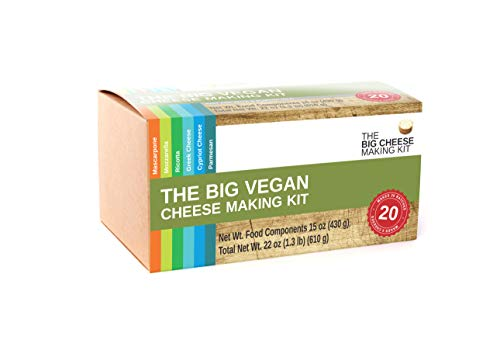 The Big Vegan Cheese Making Kit - (Make 6 Dairy Free Cheeses in Around an Hour)