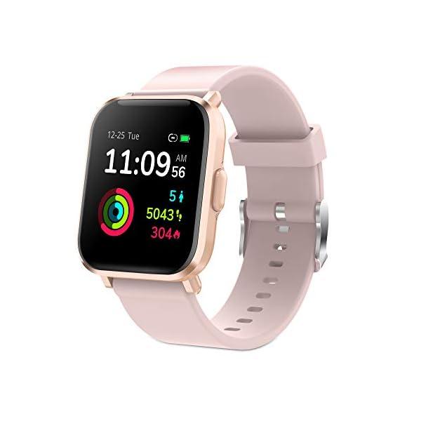 GRDE Reloj Inteligente Hombre Mujer, Smartwatch Fitness 24H Monitor de Oxigeno(SpO2)/Ritmo Cardíaco/Sueño 5ATM… 1