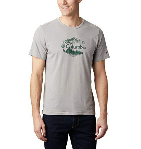 Columbia M High Dune Camiseta Estampada De Manga Corta, Hombre, Gris Grey Outsider, XXL