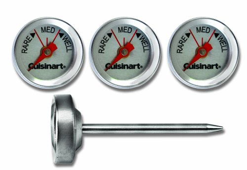 Cuisinart CSG-603 Outdoor Grilling Steak Thermometers (Set of 4) , Stainless Steel