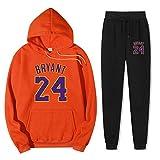 Otoño Invierno Deporte Pullover Jumper Conjuntos de atuendo Lakers Kobe # 24 Chándal de contraste Traje de entrenamiento Traje escolar Sudadera con capucha y traje de jogging inferior-XX-grande