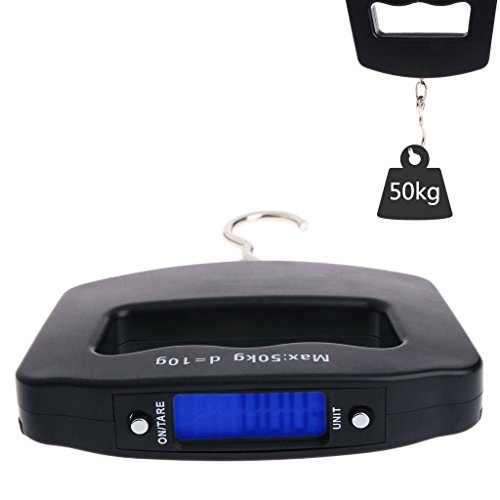 Tragbare digitale Personenwaage mit Haken zum Aufhängen, 50 kg