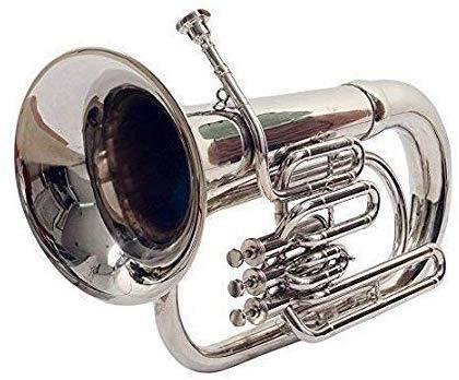 New Jaibharat Musicals Euphonium (brass Silver) with bag