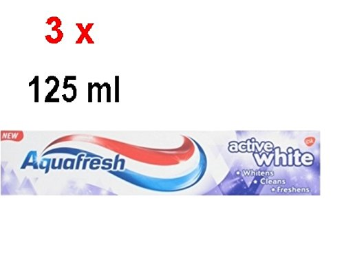 Aquafresh Zahnpasta - Active White - 3er Pack (3 x 125 ml)