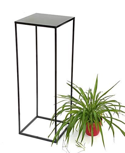 DanDiBo Blumenhocker Metall Schwarz Eckig Höhe 82,5 cm Blumenständer Beistelltisch 434 Blumensäule Modern Pflanzenständer Pflanzenhocker (82.5)