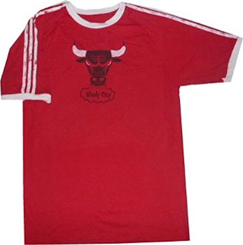 adidas Chicago Bulls Throwback Vintage Premium Slim Fit Shirt (XL)