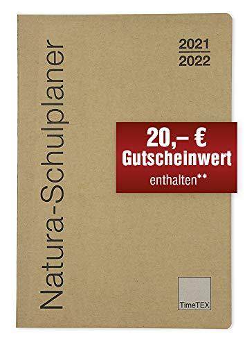 TimeTex Natura-Schulplaner A4-Plus mit Karton-Cover - Schuljahr 2021 - 2022 - Lehrerkalender - Lehrertimer - 10752