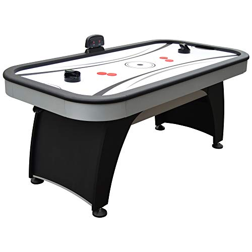 Learn More About Hathaway Silverstreak 6-Foot Air Hockey Game Table for Family Game Rooms with Elect...