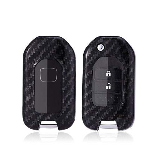 LCDIEB Carbon Fiber PC Car Key Case Holder For Honda Civic CR-V HR-V Accord Ja