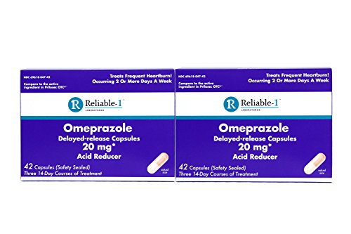 Reliable1 Laboratories Omeprazole DelayedRelease Capsules 20Mg Acid Reducer 42 Count