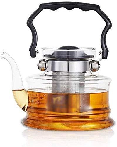 Tetera Set Novedad Jarras Tetera para té y café Tetera de vidrio Tetera de alta temperatura Filtro de acero inoxidable Estufa de cerámica eléctrica Hervidor de ebullición 2200ml