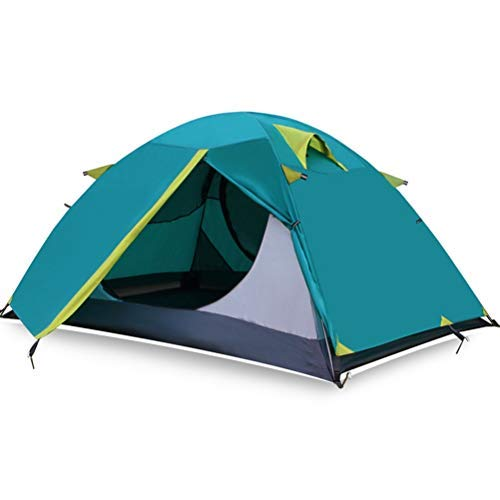 IREANJ Tienda al Aire Libre Dobles Tres Temporadas Viento y Camping for Acampar Conjunto Lluvia Mano de Aluminio del Alpinismo Recorrido Auto-conducción Tienda (Color : Blue)
