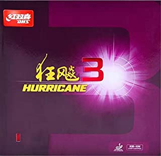 DHS Hurricane 3 Table Tennis Racket Rubber, Pimples in Ping Pong Paddle Rubber