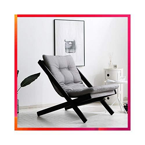 ZYLE Sofá Perezoso Silla Plegable Sofá de una Sola Tela Dormitorio Estudio Sala de Estar Silla Minimalista Moderna Diseño extraíble y Lavable 58.5 × 89 × 78cm (Color : Gray)