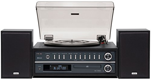 Teac All-In-One Bluetooth Hi-Fi Stereo Turntable CD Player & Digital AM/FM Radio Tuner Mega Bass Reflex Stereo Sound System