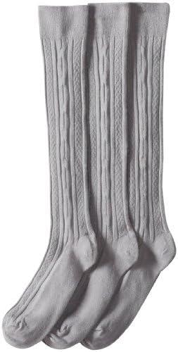 Jefferies Socks Big Girls' Cable-Knit Knee-High Sock Three-Pack