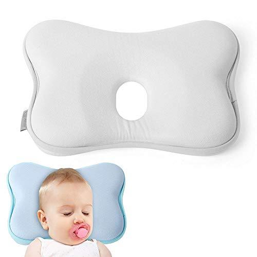 Almohada Bebé Anti Plagiocefalia,Deformación de La Cabeza de la Almohada Del Bebé,Almohada para Bebé Contra la Deformación,Almohada Bebé Plagiocefalia
