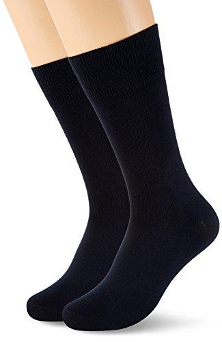 Schiesser Herren Herrensocken (2PACK) Socken, Blau (Nachtblau 804), 43-46 (2er Pack)