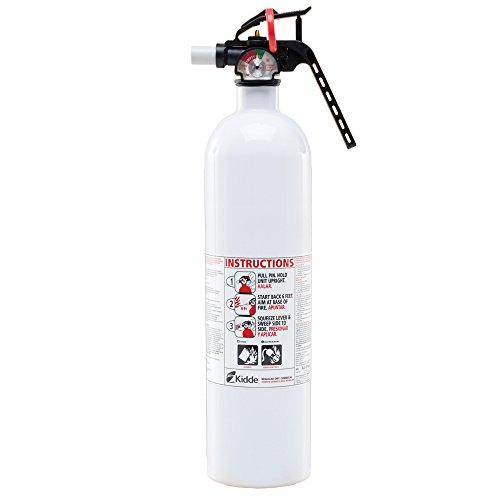 Auto/Marine 10-B:C Fire Extinguisher, Metal Valve, White