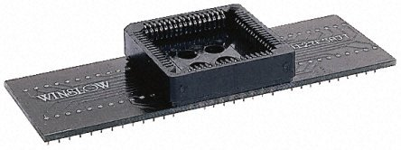 Winslow Straight Through Hole Mount 1.27mm, 2.54mm Pitch IC Socket Adapter, 28pin Female PLCC to 28pin Male DIP