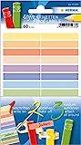 HERMA 15238Penne di etichette, Adesivo Permanente, in carta 3fogli con 60Etichette/Confezione, 10X 46mm, disponibile in diversi colori