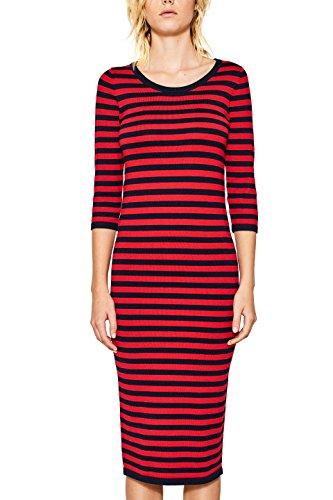 ESPRIT Damen 097EE1E003 Kleid, Mehrfarbig (Red 2 631), Medium