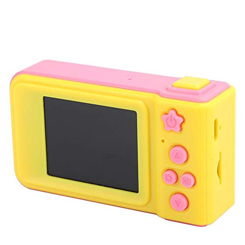 Digital Camera, Camera Toy, Anti-Fall Mini Sports Camera, Camera, USB for Children of All Ages,(Pink (no Memory Card))