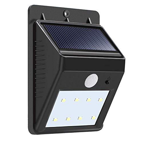 KX&VV Zonnelicht, 8 LED Outdoor Zonne-energie Waterdichte Wandlamp, Hoge Efficiëntie Zonne-Cel, Driehoek vorm, Landschap Verlichting Motion Sensor Licht, Binnenplaats, Hek Licht, Maat 8.65 * 11.45 * 4.15CM