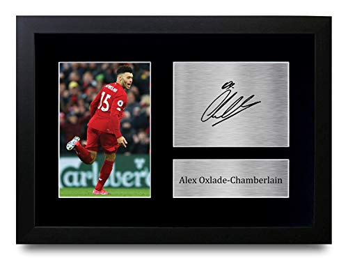 HWC Trading Alex Oxlade-Chamberlain Liverpool Gifts - Imagen firmada para fans y seguidores (marco A4)