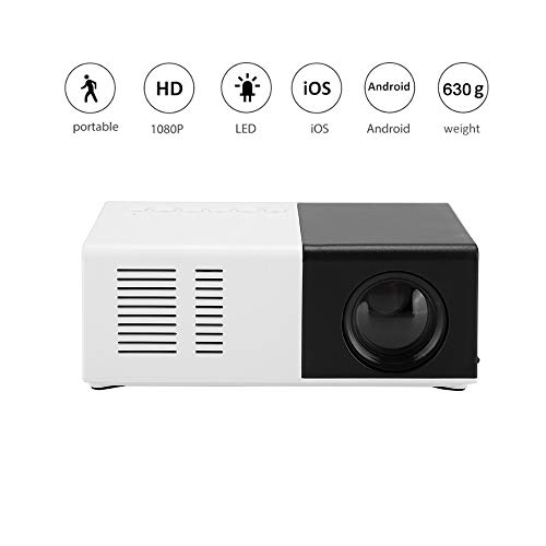 Mini beamer, draagbare led-projector ondersteunt 1080p Full HD max. 1800 ANSI 70