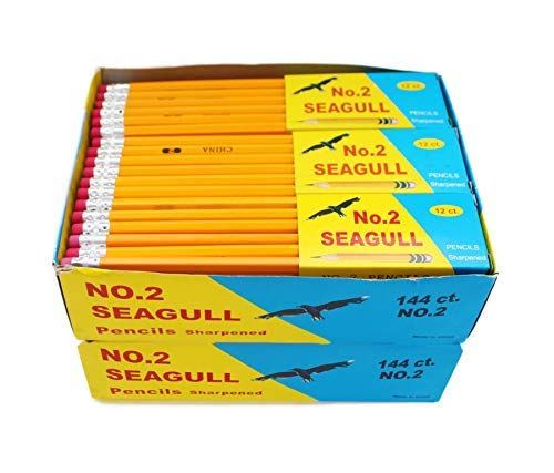 Pencils Pre-sharpened No. 2 144/box 2 Boxes of 144 New Improved Eraser