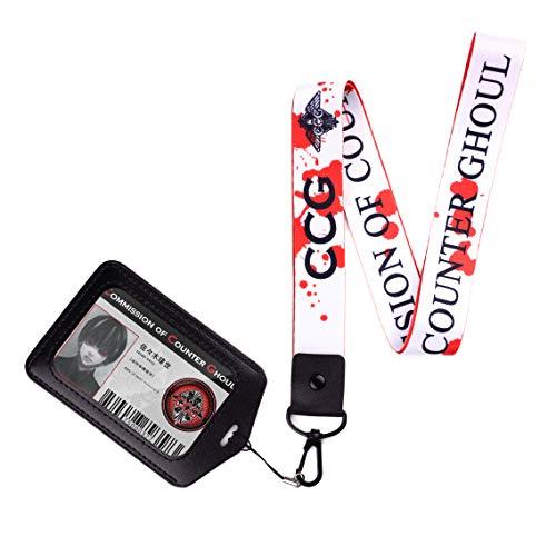 Acollador Correa para el Cuello para Tokyo Ghoul con Ken Kaneki CCG ID Card en Porta...