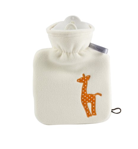 Reer 4020 Kinderwärmflasche Safari Bezug, weiß, 0.6 L