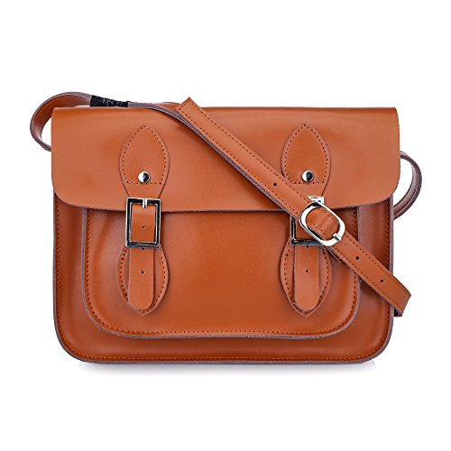 Yasmin Leather Satchel YLS011-11' Small (Tan)