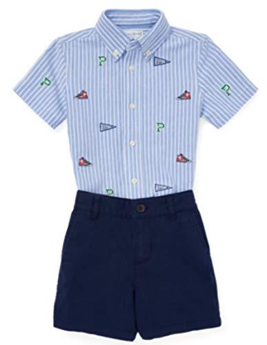 Polo Ralph Lauren Polo Ralph Laurent Conjunto Schiff Set-ST-SHS - Conjunto Camisa Y Bermuda Bebe (9 Meses)