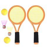 Toyvian Raquetas Badminton niños raquetero Tenis con Bolas 2 en 1 Juguete para niños Juego de Playa al Aire Libre