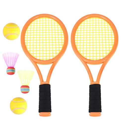 Toyvian Raquetas Badminton niños raquetero Tenis con Bolas 2 en 1 Juguete...