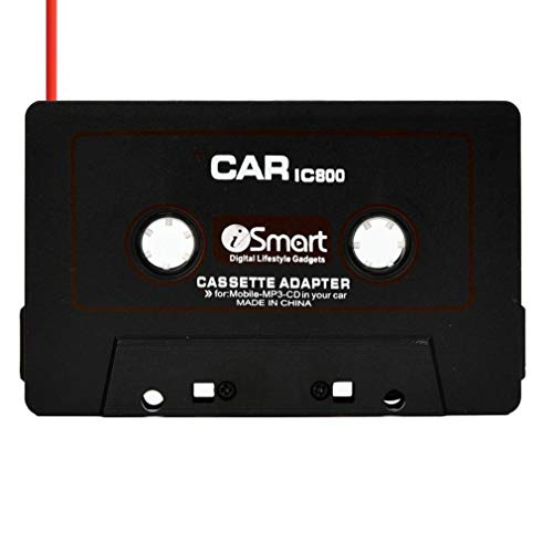 MChoice Car Automobile IC800 Cassette Casette Tape 3.5mm AUX Audio Adapter for MP3/MP4 CD for iPod/iPhone Car Audio (Black)