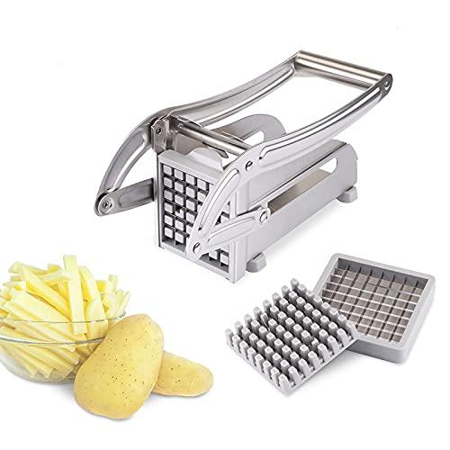Verdelife Coupe-frites professionnel en acier inoxydable pour pommes de terre et légumes pour usage...