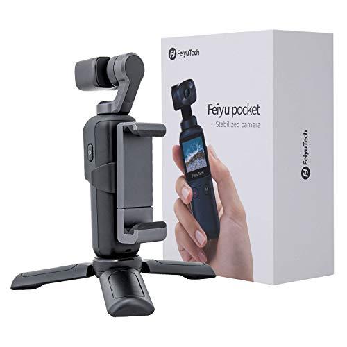 Feiyu Pocket 2 in 1 Handheld Gimbal Camera Stabilizer Vlogger Camera 4K Integrated Camera Gimbal Hyperlapse Motion Time-Lapse Panorama 8X Slow Motion Video Vlogger Gimbal with Mini Tripod Phone Mount