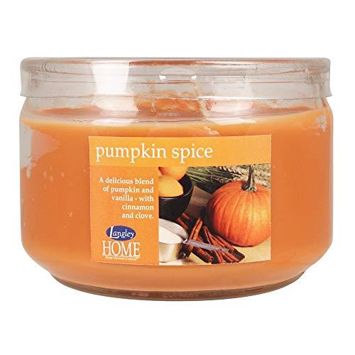 Langley Home 2 Stück Duftkerze/Glas, Brenndauer ca. 45 Stunden - Pumpkin Spice - 284g