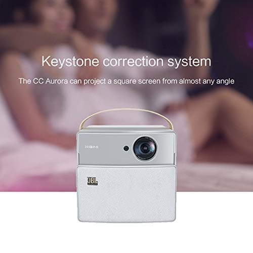 XGIMI CC Aurora, Smart Wi-Fi Mini Projector,350 ANSI Lumen 720P 1080P Support Portable Projector, 2x5W JBL Speaker, 180 Inch Display Size, Airplay, Built-in 20,000 mAh Battery
