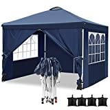 Hikole Carpa 3x3 Cenador Plegable Impermeables Carpas de Jardin Pop Up Gazebo con 4 Paredes...