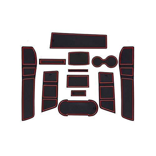 CDEFG für Seat Leon Cupra 5F Auto Innere Türschlitz rutschfest Anti-Staub Becherhalter Matte Arm Box Aufbewahrung Pads